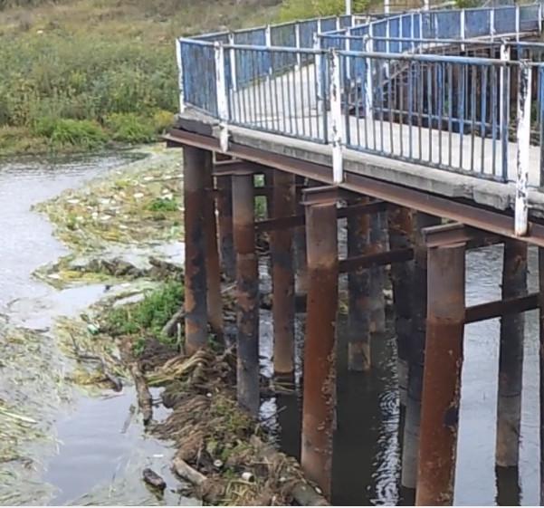 Бобровское водохранилище - мусор