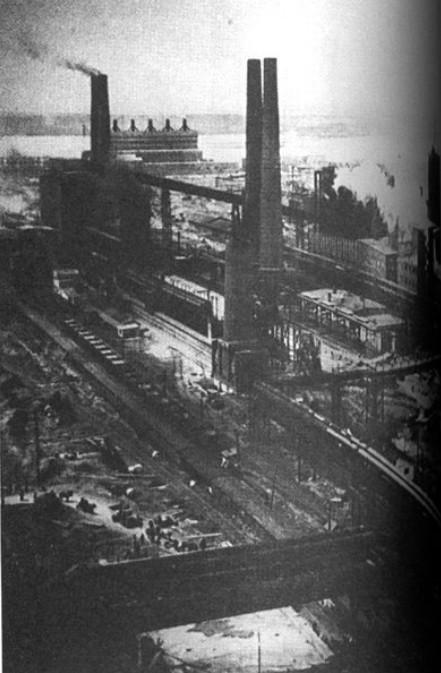Магнитогорский металлургический комбинат, 30-е годы. Фото Википедия.